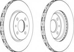 Комплект передних тормозных дисков FERODO DDF762 (2 шт.)