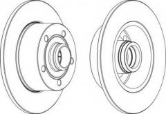 Комплект задних тормозных дисков FERODO DDF830 (2 шт.)