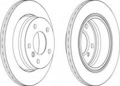 Комплект задних тормозных дисков FERODO DDF831 (2 шт.)