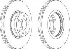 Комплект передних тормозных дисков FERODO DDF832 (2 шт.)