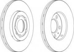 Комплект передних тормозных дисков FERODO DDF927 (2 шт.)