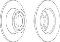 Комплект задних тормозных дисков FERODO DDF929 (2 шт.)