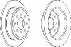 Комплект задних тормозных дисков FERODO DDF950 (2 шт.)