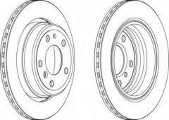 Комплект задних тормозных дисков FERODO DDF955 (2 шт.)