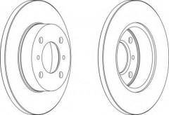 Комплект задних тормозных дисков FERODO DDF988 (2 шт.)