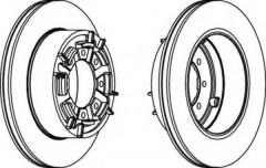 Комплект задних тормозных дисков FERODO FCR140A (2 шт.)