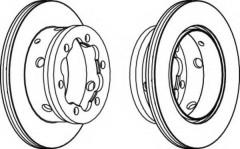 Комплект задних тормозных дисков FERODO FCR191A (2 шт.)