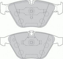 Тормозные колодки передние FERODO FDB1628, дисковые