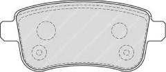 Тормозные колодки задние FERODO FDB4182, дисковые