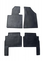 Коврики в салон для Kia Sorento '10-13 XM резиновые, черные (Rigum)