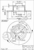 Комплект тормозных дисков BREMBO 08.2559.24 (2 шт.)