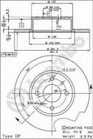 Комплект тормозных дисков BREMBO 08.3126.14 (2 шт.)