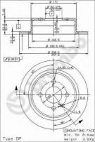 Комплект тормозных дисков BREMBO 08.3947.24 (2 шт.)
