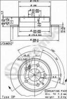 Комплект тормозных дисков BREMBO 08.4738.14 (2 шт.)