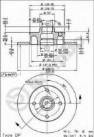 Комплект тормозных дисков BREMBO 08.5005.14 (2 шт.)