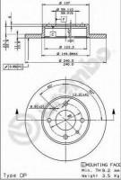 Комплект тормозных дисков BREMBO 08.5085.14 (2 шт.)