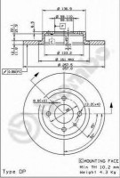 Комплект тормозных дисков BREMBO 08.5086.14 (2 шт.)