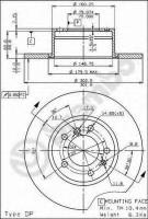 Комплект тормозных дисков BREMBO 08.5141.20 (2 шт.)