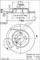 Комплект тормозных дисков BREMBO 08.5149.14 (2 шт.)