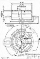 Комплект тормозных дисков BREMBO 08.5174.34 (2 шт.)