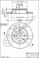 Комплект тормозных дисков BREMBO 08.5211.10 (2 шт.)