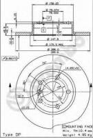 Комплект тормозных дисков BREMBO 08.5359.11 (2 шт.)