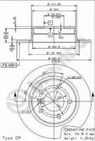 Комплект тормозных дисков BREMBO 08.5366.21 (2 шт.)