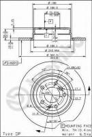 Комплект тормозных дисков BREMBO 08.5580.10 (2 шт.)