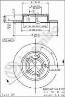 Комплект тормозных дисков BREMBO 08.5775.10 (2 шт.)