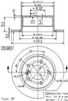 Комплект тормозных дисков BREMBO 08.6853.80 (2 шт.)