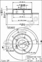 Комплект тормозных дисков BREMBO 08.8065.14 (2 шт.)