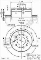 Комплект тормозных дисков BREMBO 08.8094.30 (2 шт.)
