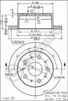 Комплект тормозных дисков BREMBO 08.8094.40 (2 шт.)