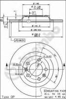 Комплект тормозных дисков BREMBO 08.8682.10 (2 шт.)