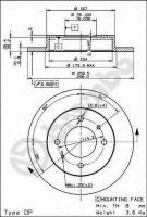 Комплект тормозных дисков BREMBO 08.9081.10 (2 шт.)