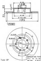 Комплект тормозных дисков BREMBO 08.9364.20 (2 шт.)