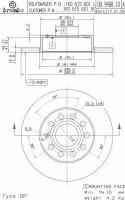 Комплект тормозных дисков BREMBO 08.9488.10 (2 шт.)