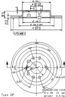 Комплект тормозных дисков BREMBO 08.9511.10 (2 шт.)