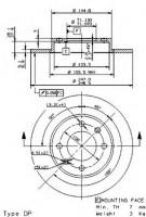 Комплект тормозных дисков BREMBO 08.9719.10 (2 шт.)