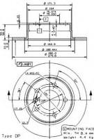 Комплект тормозных дисков BREMBO 08.9787.10 (2 шт.)