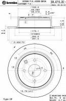 Комплект тормозных дисков BREMBO 08.A715.20 (2 шт.)