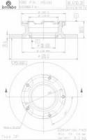 Комплект тормозных дисков BREMBO 08.A730.20 (2 шт.)