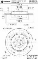 Комплект тормозных дисков BREMBO 08.B310.10 (2 шт.)