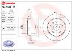 Комплект тормозных дисков BREMBO 08.B557.10 (2 шт.)