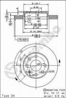 Комплект тормозных дисков BREMBO 09.3090.14 (2 шт.)