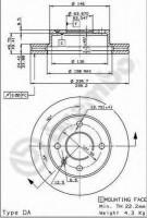 Комплект тормозных дисков BREMBO 09.4914.34 (2 шт.)