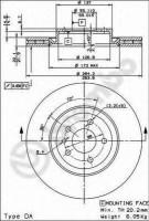 Комплект тормозных дисков BREMBO 09.4939.21 (2 шт.)