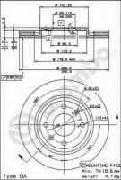 Комплект тормозных дисков BREMBO 09.4987.24 (2 шт.)