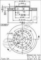 Комплект тормозных дисков BREMBO 09.5148.24 (2 шт.)