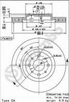 Комплект тормозных дисков BREMBO 09.5180.30 (2 шт.)